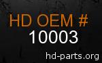 hd 10003 genuine part number