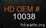 hd 10038 genuine part number
