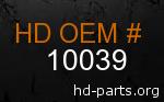 hd 10039 genuine part number