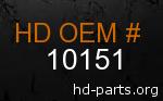 hd 10151 genuine part number