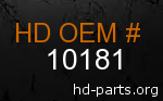 hd 10181 genuine part number