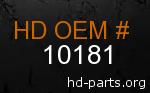 hd 10181 genuine part number
