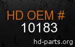 hd 10183 genuine part number