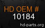 hd 10184 genuine part number