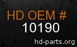 hd 10190 genuine part number