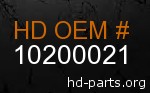 hd 10200021 genuine part number