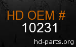 hd 10231 genuine part number
