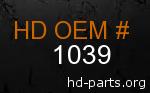 hd 1039 genuine part number
