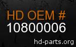hd 10800006 genuine part number