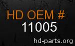 hd 11005 genuine part number