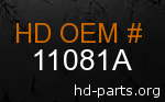 hd 11081A genuine part number