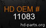 hd 11083 genuine part number