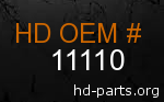 hd 11110 genuine part number