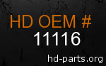 hd 11116 genuine part number