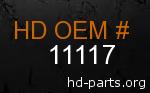 hd 11117 genuine part number
