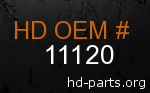 hd 11120 genuine part number