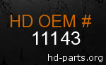 hd 11143 genuine part number