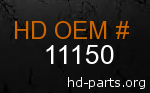 hd 11150 genuine part number