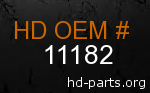 hd 11182 genuine part number