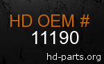 hd 11190 genuine part number