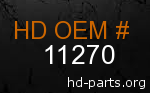 hd 11270 genuine part number