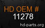 hd 11278 genuine part number