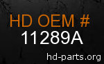 hd 11289A genuine part number