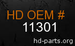 hd 11301 genuine part number