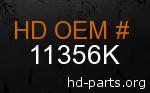 hd 11356K genuine part number