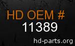 hd 11389 genuine part number