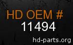 hd 11494 genuine part number