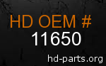 hd 11650 genuine part number