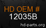 hd 12035B genuine part number