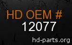 hd 12077 genuine part number