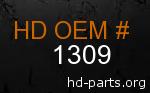 hd 1309 genuine part number
