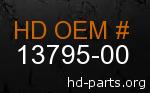 hd 13795-00 genuine part number