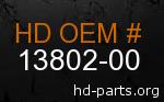 hd 13802-00 genuine part number