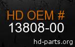 hd 13808-00 genuine part number