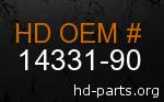 hd 14331-90 genuine part number