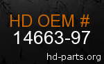 hd 14663-97 genuine part number