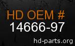 hd 14666-97 genuine part number