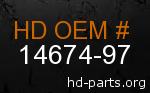 hd 14674-97 genuine part number
