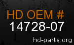 hd 14728-07 genuine part number