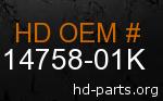 hd 14758-01K genuine part number