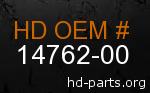 hd 14762-00 genuine part number
