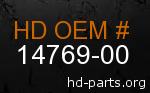 hd 14769-00 genuine part number