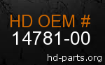 hd 14781-00 genuine part number
