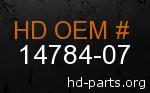 hd 14784-07 genuine part number