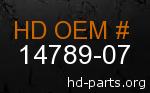 hd 14789-07 genuine part number