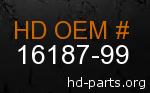 hd 16187-99 genuine part number